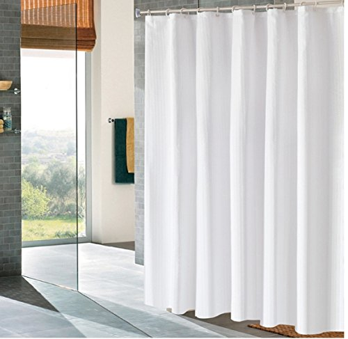 shower curtain heavy duty fabric waterproof bath curtains solid white