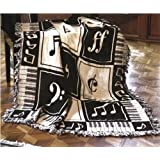 Keynote Music Two Layer Woven Throw
