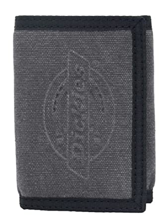 Dickies Black Cotton Canvas Trifold Wallet w/Velcro Closure