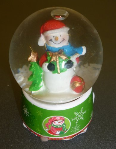 Pms 6cm Snowglobe With Christmas Scene - Snowman Design (pm194)
