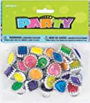 Pack of 24 Jewel Rings - loads of col...