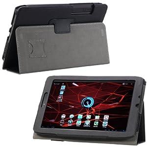 MoKo(TM) Folding Cover Case for Motorola XOOM 2 DROID XYBOARD 8.2-Inch Media Edition Tablet MZ607, BLACK