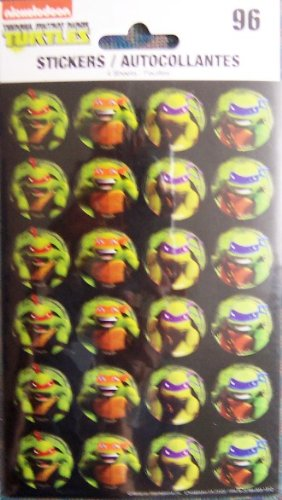 96 Teenage Mutant Ninja Turtles Stickers