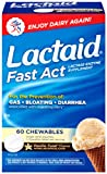 Lactaid Fast Act Lactase Enzyme Supplement, Chewable Tablet, Vanilla Twist, 60 Count