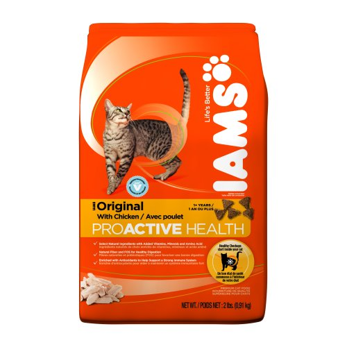 Image of IAMS Original with Chicken Proactive Health Dry Cat Food, 2-Pound Bags (Pack of 8)