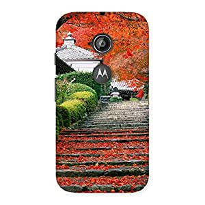 Special Stairs Garden Multicolor Back Case Cover for Moto E 2nd Gen