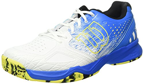 WilsonKaos Comp Bl/wh/ye - Scarpe da Tennis Uomo , Multicolore (Mehrfarbig (Bright Blue A1WG)), 44