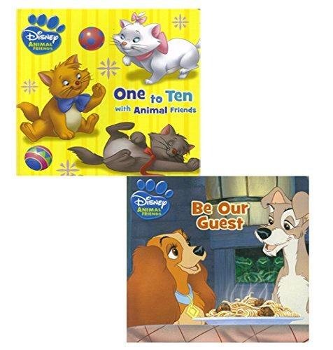 Disney Animal Friends One to Ten with Animal Friends and Be Our Guest Board Book Pack (Two Books)