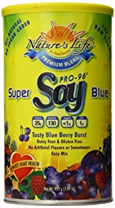 Nature's Life Soy, Super Blue, Blueberry, Powder, 1.09-Pound