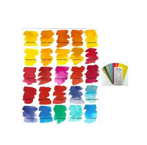 Peerless-modèle : watercolors aquarellfarbblaettchen mini couleurs - 40