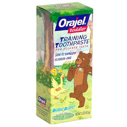 Orajel Toddler Training Toothpaste for Cleaner Teeth, Little Bear, Bubble Burst ,2 oz (56.7 g) - 1