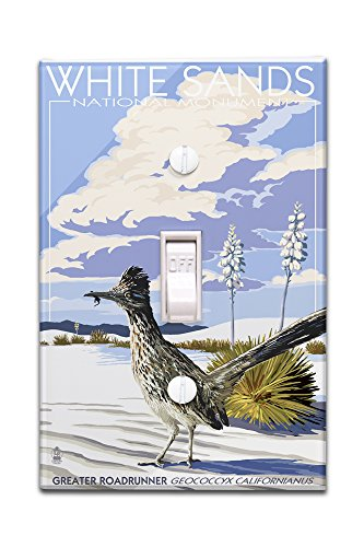 White Sands National Monument, New Mexico - Roadrunner (Light Switchplate Cover)