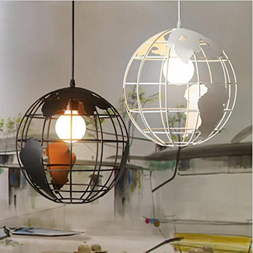 In ottone antico lampadario,luci a soffitto per soggiorno lampadario,Ferro lampadario globo personalità creative retrò caffetteria moderna sala da pranzo, pendente
