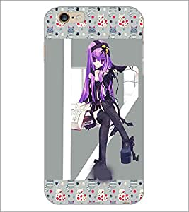 PrintDhaba Bold Animated Girl D-3619 Back Case Cover for APPLE IPHONE 6S PLUS (Multi-Coloured)