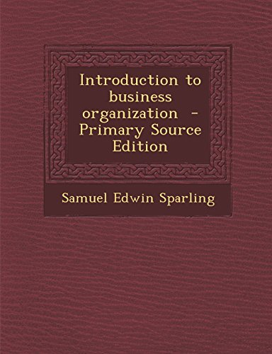 Introduction to business organization