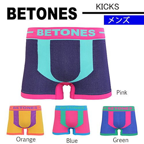 (ビトーンズ)BETONES ボクサーパンツ KICKS M001/ MEN's Orange bet-100-orange