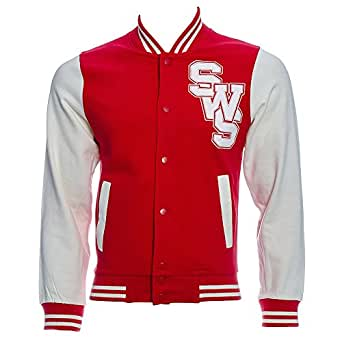 Sleeping With Sirens Varsity Jacket (Red) - Small