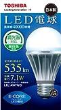 TOSHIBA E-CORE(イー・コア) LED電球(調光器対応・E26口金・一般電球形・白熱電球40W相当・535ルーメン・昼白色相当) LEL-AW7N/D  東芝