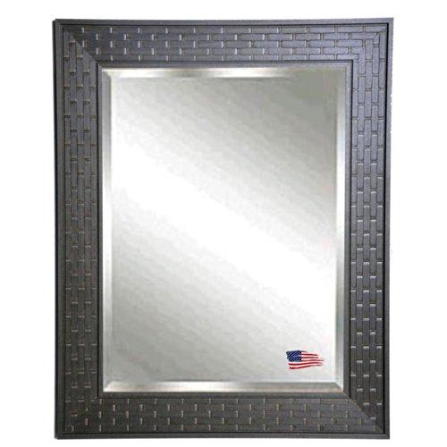 American Made Rayne Espresso Bricks Beveled Wall Mirror, 20.5 X 24.5 front-794399