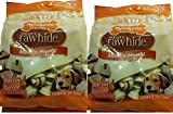 Nylabone Rawhide Meaty Dog Bone Bacon Flavor Treats 2- 18ct 9.05oz Bags (Pack of 2)