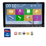 2014 New Win 8 UI Design Ouku 7-Inch Double-DIN In Dash Touchscreen LCD Monitor with DVD/CD/MP3/MP4/USB/S... by Ouku