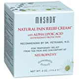 Masada Natural Pain Relief Cream with Alpha Lipoic Acid, Antioxidant Protection, 4-Ounce Jars ~ Masada