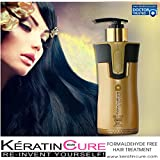 KERATIN BIO-BRAZILIAN TREATMENT KERATIN CURE GOLD & HONEY BIO STRAIGHTENER FORMALDEHYDE FREE PROFESSIONAL TREATMENT 300 ML /10.14 FL OZ -KERATINA BRASILERA TRATAMIENTO QUERATINA PELO LISO CREAMY FORMULA