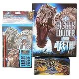 Jurassic World School Supply Set L Folder Pencil Case And 7 Piece Stationary Set L Back To School 9 Piece Bundle