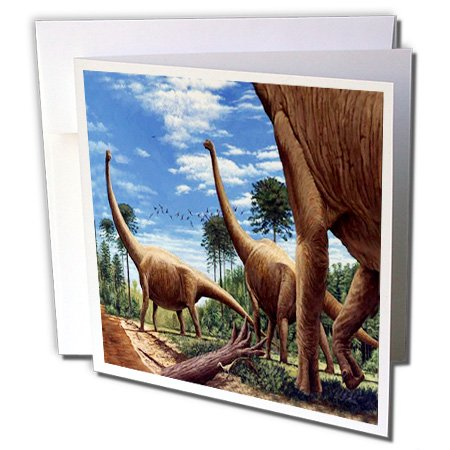 3dRose Dinosaur Brachiosaurus - Greeting Cards, 6 x 6 inches, set of 6 (gc_1008_1)