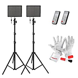 Emgreat® Aputure HR672S High CRI95+ LED Video Light Photography Video Light with Wireless Remote Control and 2M(6.5ft) Light Stand