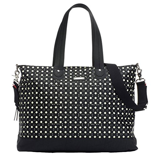 Storksak Diamonds Diaper Tote Bags, Black and White