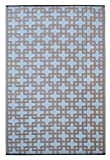 Fab Habitat 4-Feet by 6-Feet Rheinsberg Indoor/Outdoor Rug, Powder Blue and Warm Taupe