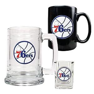 NBA Philadelphia 76ers 15-Ounce Tankard, 15-Ounce Ceramic Mug & 2-Ounce Shot... by Great American Products