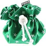 Louka - Funda con clip para chupete, color verde con estrellas blancas