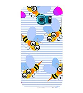 Modern Art Design Pattern many Bees 3D Hard Polycarbonate Designer Back Case Cover for Samsung Galaxy S6 Edge :: Samsung Galaxy Edge G925