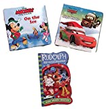 img - for 3 Board Books Bundle includes: Rudolph the Red-Nosed Reindeer Very Merry Misfits, Mickey & Friends On the Ice & Cars Jingle Wheels book / textbook / text book