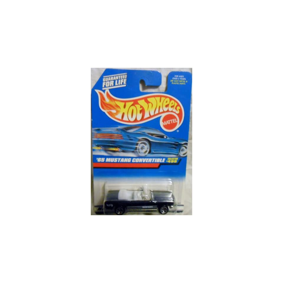 Mattel Hot Wheels 1998 164 Scale Black 1965 Ford Mustang Convertible Die Cast Car Collector #455