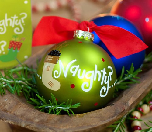 Naughty or Nice Ornament by Coton Colors