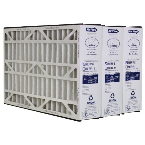 3 X Trion Air Bear 255649-105 - Pleated Furnace Air Filter 16