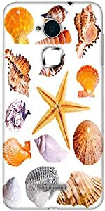 Snoogg 14 mussels and star fish studio isolated on white Designer Protective Back Case Cover For Coolpad Note 3 (White, 16GB)