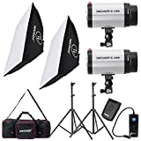 Neewer® 600W Photo Studio Monolight Strobe Flash Light Softbox Lighting Kit with Carrying Bag for Video Shooting,Location and Portrait Photography(300DI)