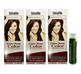 Cosamo -Love Your Color- Ammonia & Peroxide Free Hair Color #777 Medium Ash Brown (Pack of 3) with One Jarosa Beauty Bee Organic Peppermint Lip Balm 100% All Natural Deep Moisturizing Usda Certified
