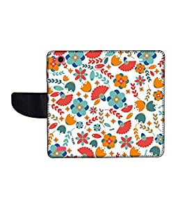KolorEdge Printed Flip Cover For Gionee Elife E3 Multicolor - (45KeMLogo11455GioneeE3)