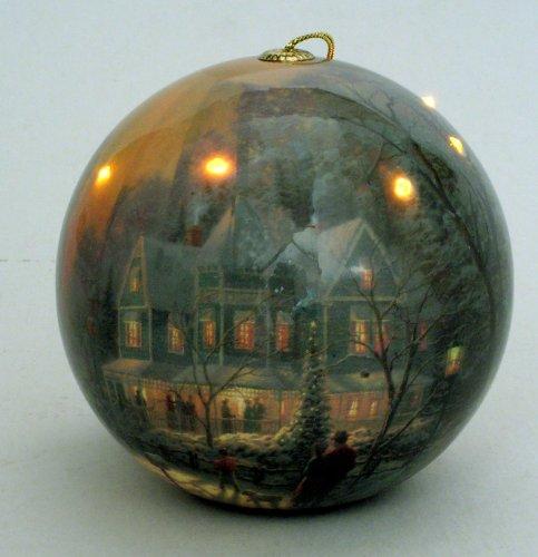Thomas Kinkadetm Christmas Led Blinking Ornament, A Holiday Gathering