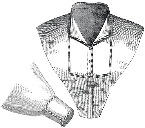 1870 Collar & Sleeve with Percale Trim Pattern