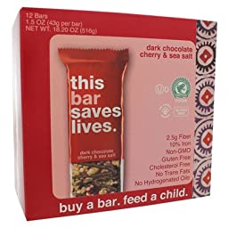 Dark Chocolate Cherry & Sea Salt Bar (12 Bar Box)