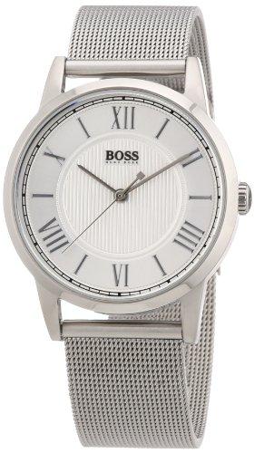 Hugo Boss 1502258 - Reloj analógico de cuarzo para mujer, correa de acero inoxidable color plateado
