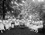 1920 photo Am. Red Cross, Chevy Chase unit Vintage Black & White Photograph a6