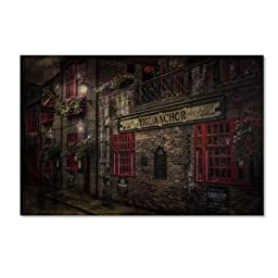 Trademark Fine Art The Old Anchor Pub Artwork by Erik Brede, 16 by 24-Inch