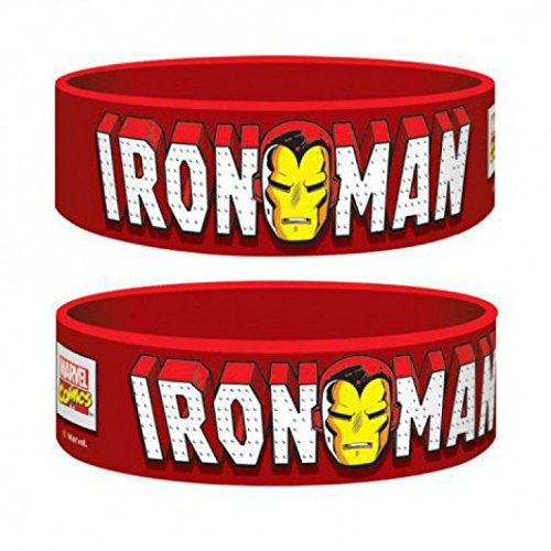 Set: Iron Man, Iron Man, Marvel Retro Braccialetto (6x2 cm) E 1 Sticker Sorpresa 1art1®